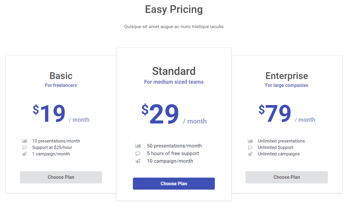 Home page - Easy Pricing