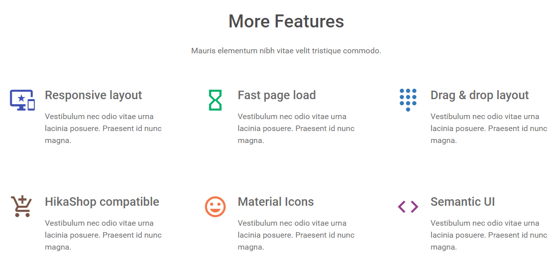 Home page - More Features