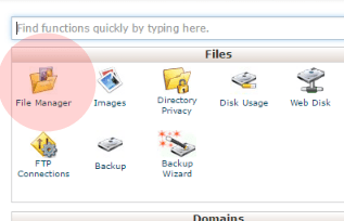 cpanel goto filemanager