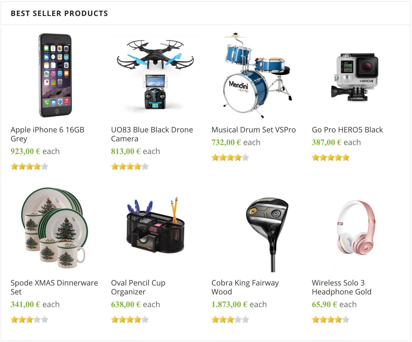 Home Page Best Seller Products (HikaShop)