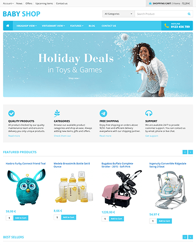 BabyShop - Joomla! Template for HikaShop & VirtueMart