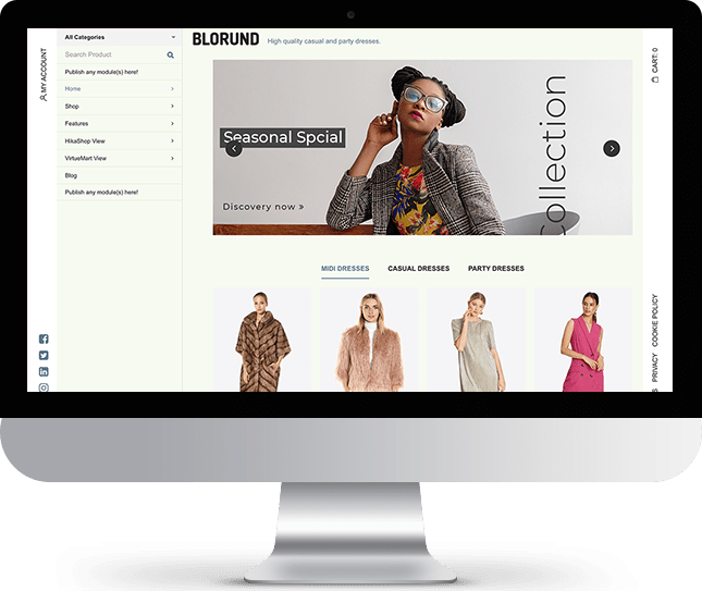 Blorund - Joomla! Template for HikaShop & VirtueMart