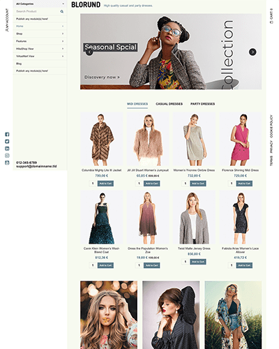 Blorund - Joomla! Template for HikaShop & VirtueMart