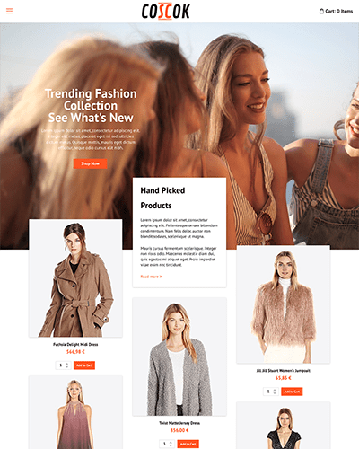 Coscok - Joomla! Template for HikaShop & VirtueMart