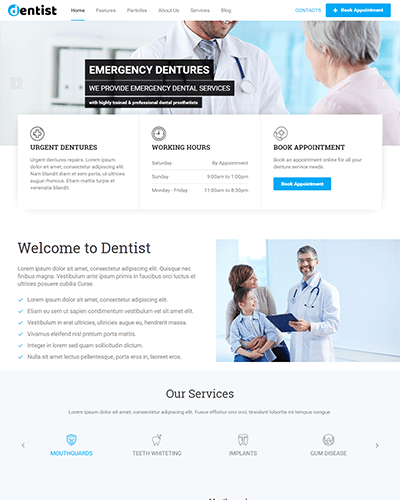 Dentist (Joomla) - Joomla template for Doctors and Clinics