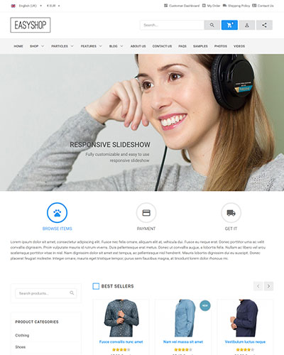 EasyShop - <p>Multipurpose and HikaShop optimized Joomla Ecommerce Template</p>