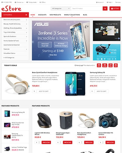 eStore - Joomla! Template for HikaShop & VirtueMart