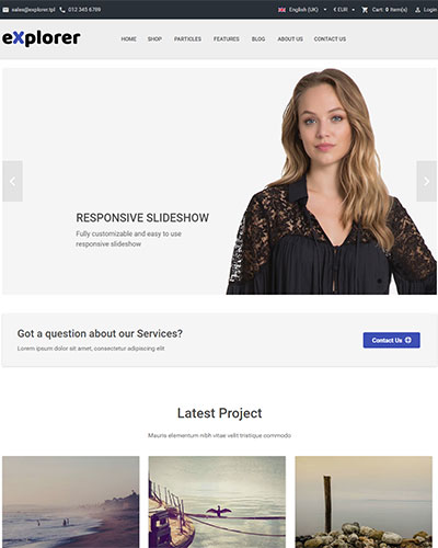 Explorer - A fresh multifunctional Joomla template with HikaShop optimization