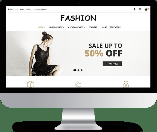 Fashion - Joomla! Template for HikaShop & VirtueMart