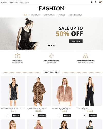 Fashion - Joomla! Template for HikaShop & VirtueMart