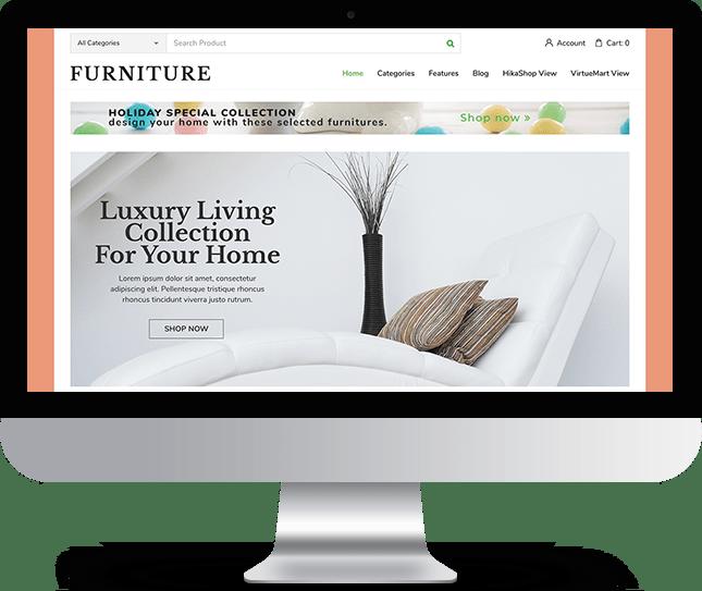 Furniture - Joomla! Template for HikaShop & VirtueMart