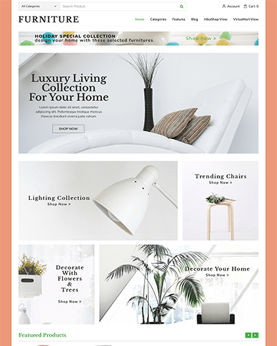 Furniture - Joomla! Template for HikaShop & VirtueMart