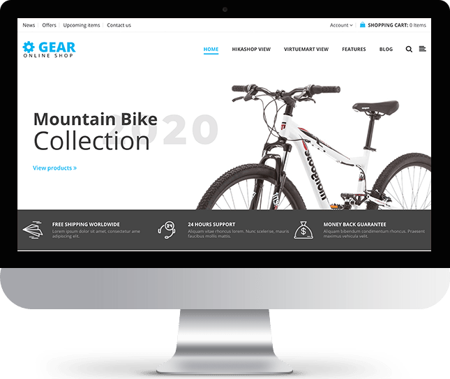 Gear - Joomla! Template for HikaShop & VirtueMart