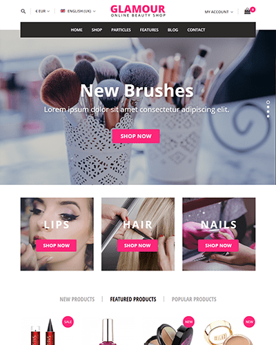 Glamour - Multi-purpose Joomla Ecommerce Template