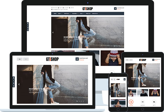 GTiShop - Multifunctional HikaShop webstore configured Joomla Ecommerce Template