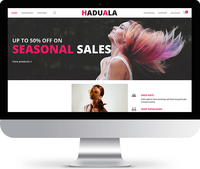 Haduala - Joomla! Template for HikaShop & VirtueMart