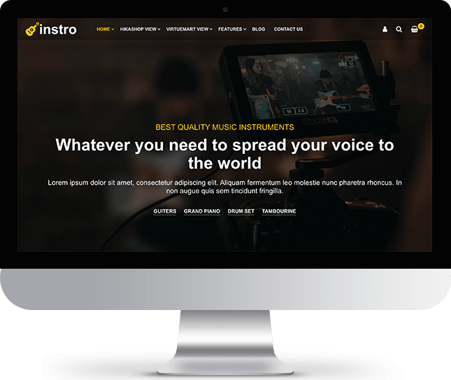 Instro - Joomla! Template for HikaShop & VirtueMart