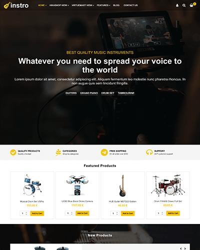 Instro - Joomla! Template for HikaShop & VirtueMart