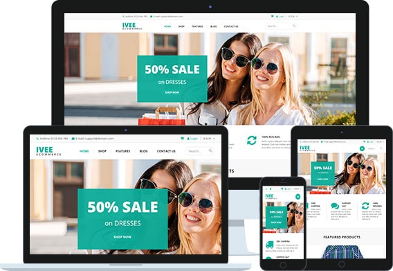 Ivee Free - Free Joomla Ecommerce Template for HikaShop