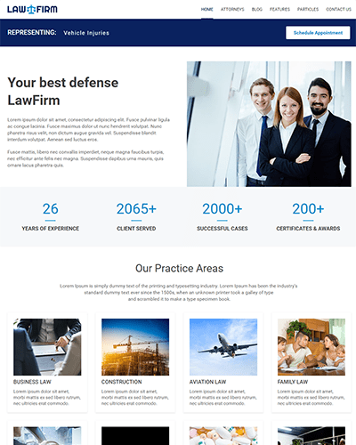 LawFirm (Joomla) - Joomla template for Law Firms and Attorneys