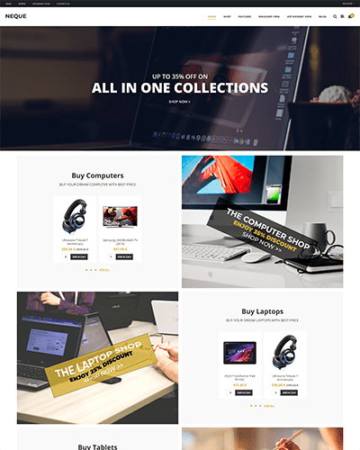 Neque - Joomla! Template for HikaShop & VirtueMart