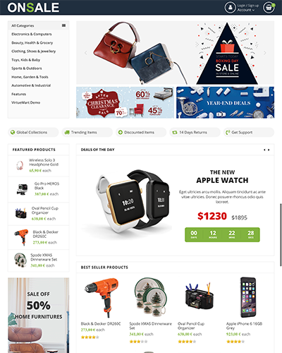 OnSale - Joomla! Template for HikaShop & VirtueMart