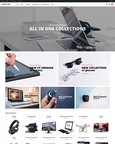 Pentas - Joomla! Template for HikaShop & VirtueMart