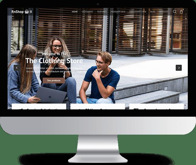 RnShop 2 - Joomla! Template for HikaShop & VirtueMart