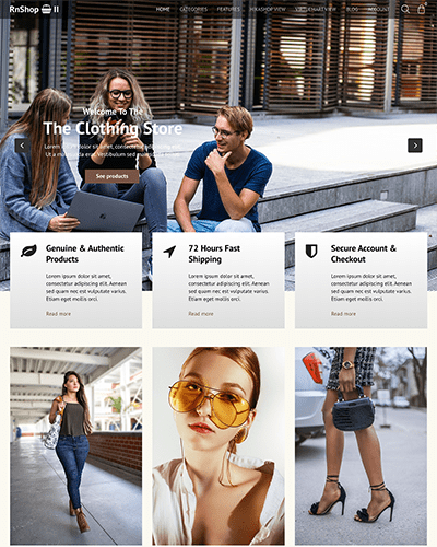 RnShop 2 - Joomla! Template for HikaShop & VirtueMart