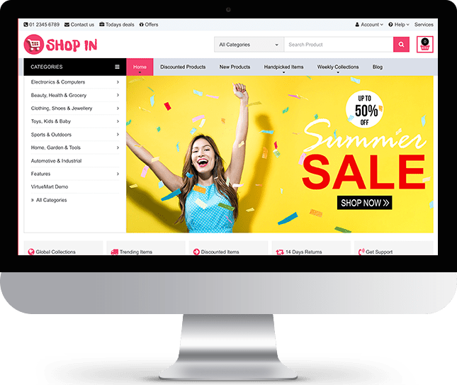 ShopIn - Joomla! Template for HikaShop & VirtueMart