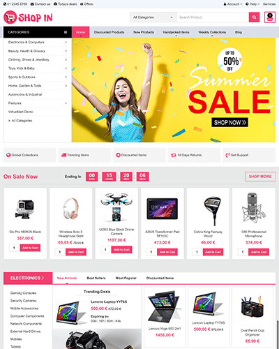 SHOPIN Joomla Template