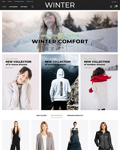 Winter - Joomla! Template for HikaShop & VirtueMart